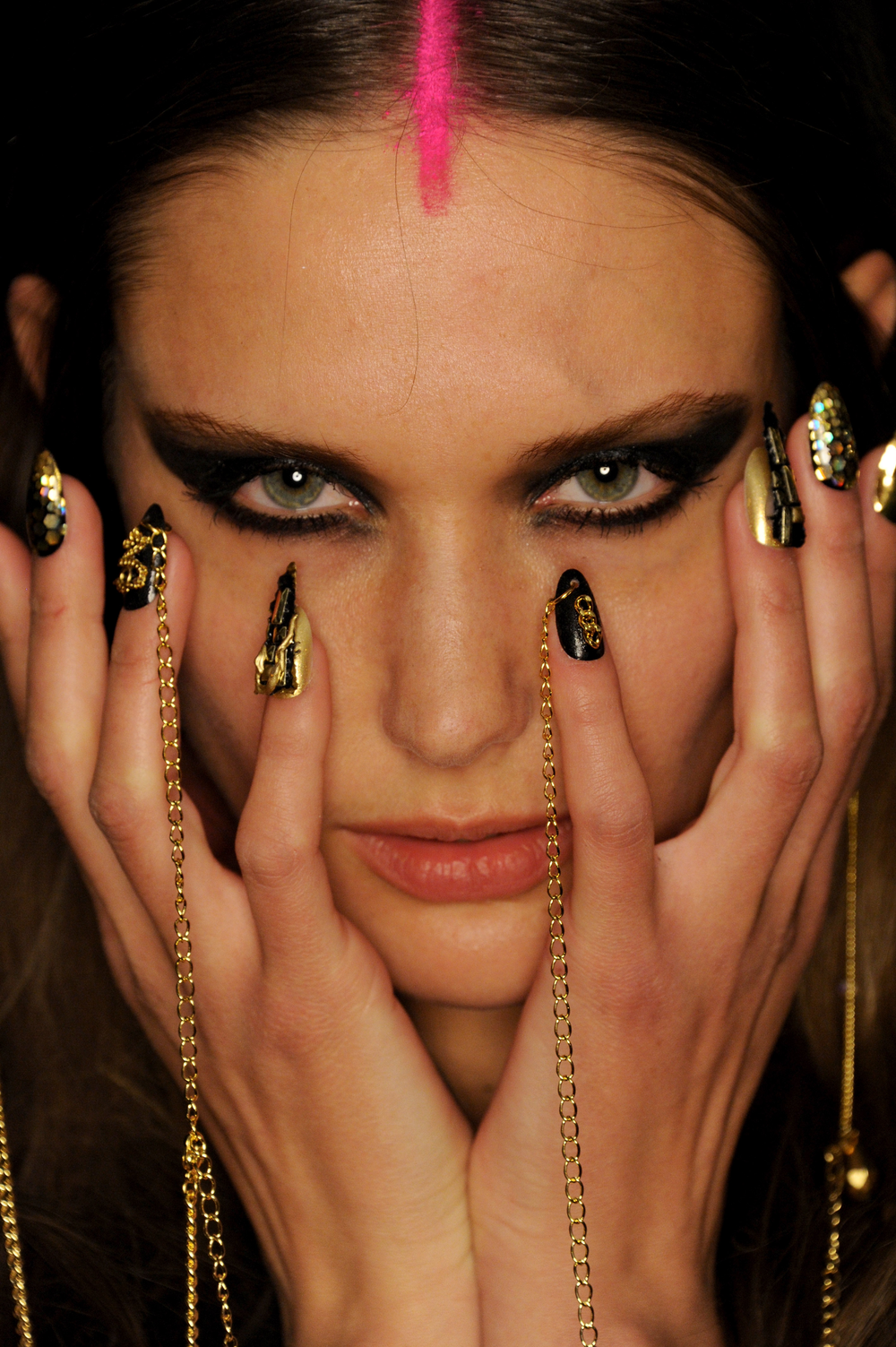 <p>Unconventional items were also used in the making of CND's nails for Libertine.</p>