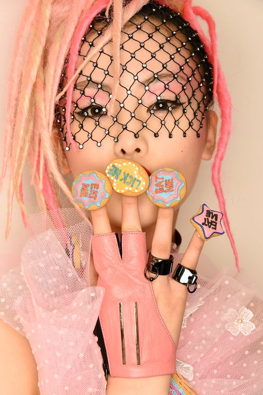 <p>A bakery at the Chelsea Market created cookies that were then fastened to nail tips using edible glue at CND for the Blonds</p>