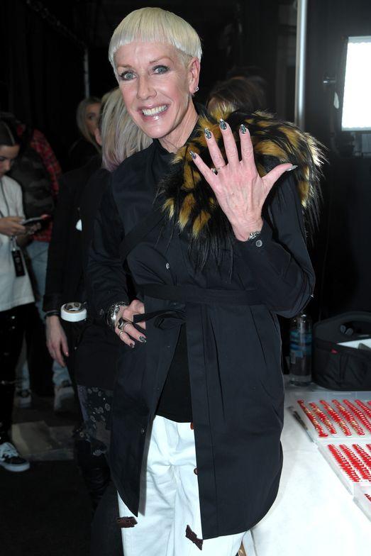 <p>CND's Jan Arnold wears a manicure by Lauren Wireman</p>