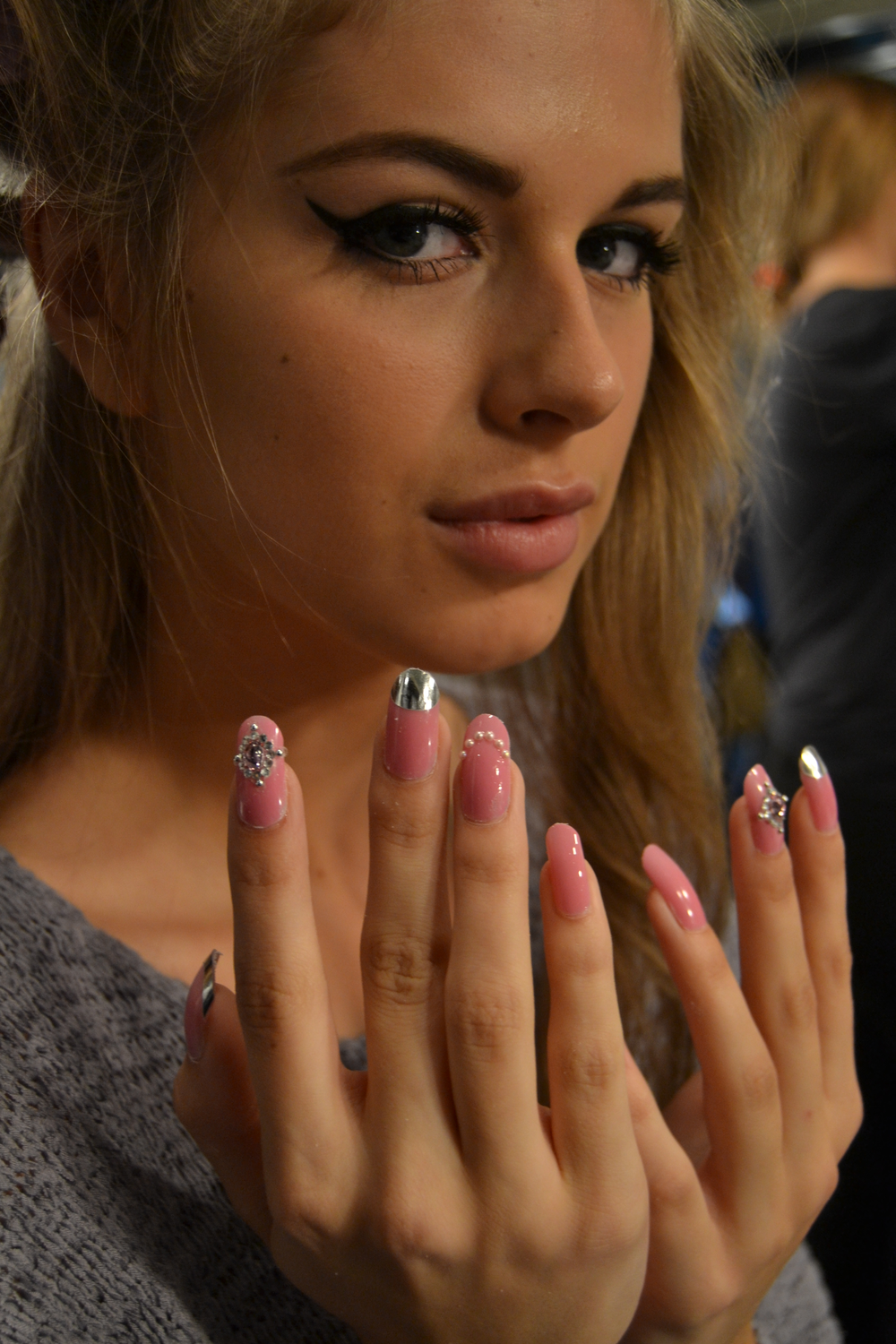 <p>Embellished <strong>Minx</strong> nails appeared at Ida Sjostedt&rsquo;s glamorous show in Sweden. <em>Photography by Natalie Ahlberg</em></p>