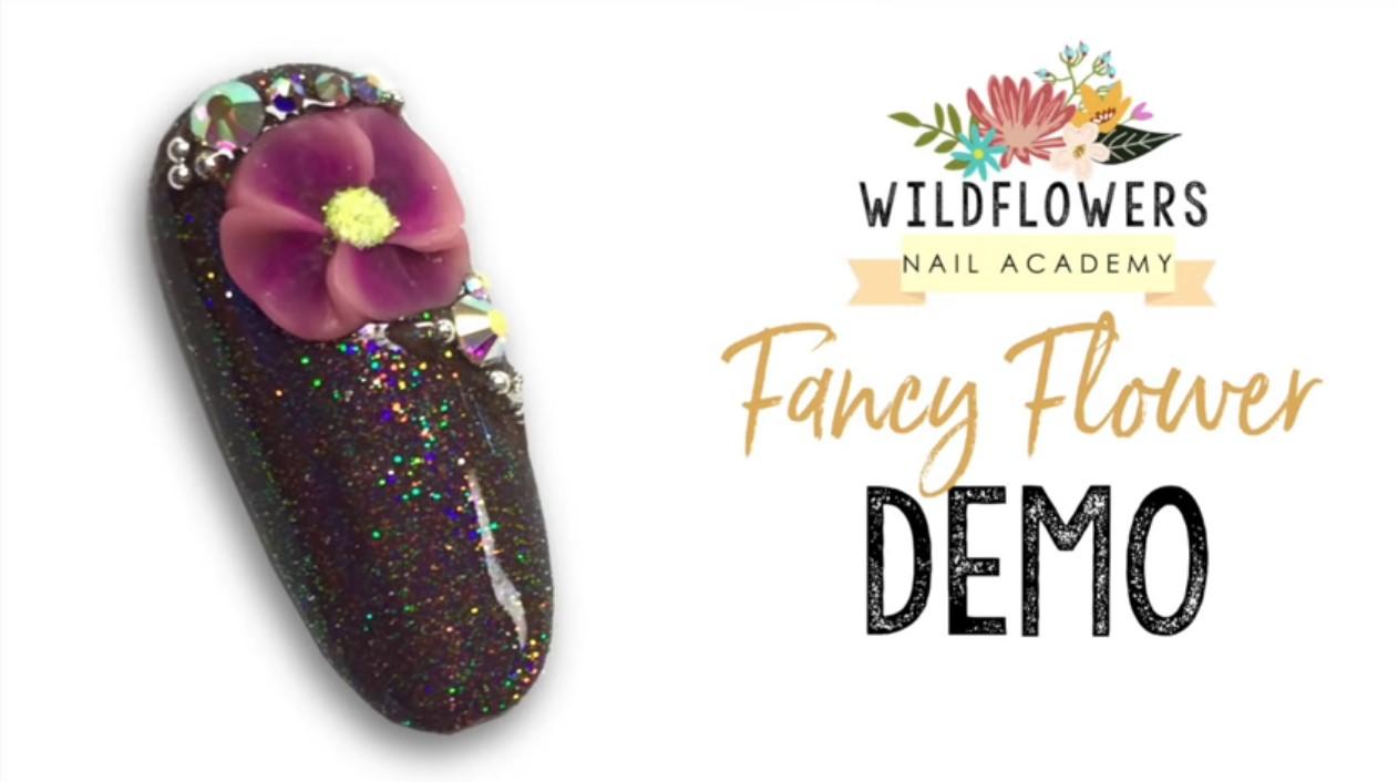 Wildflowers Fancy Flower Nail Art Demo