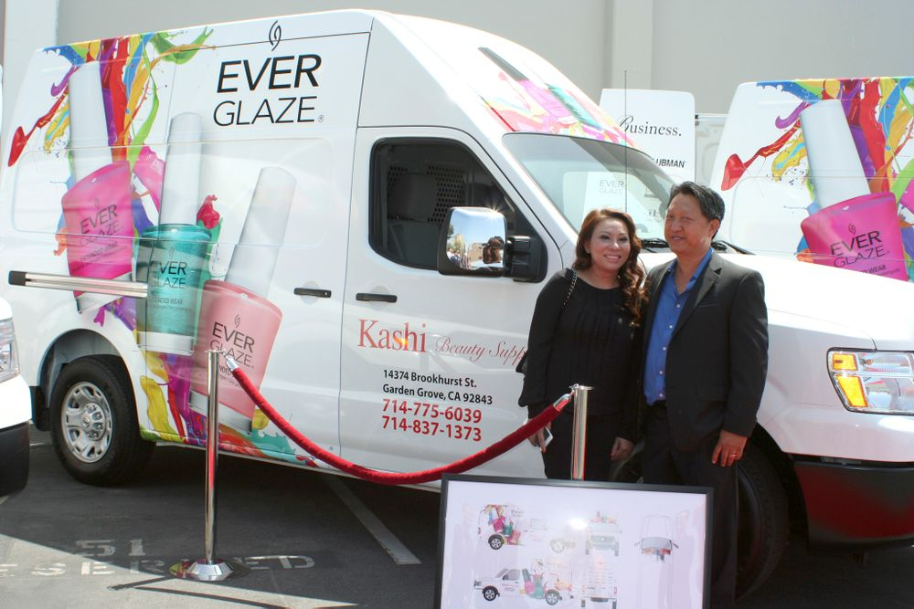 <p>Kelly and Bryan Nguyen from Kashi Beauty Supply</p>