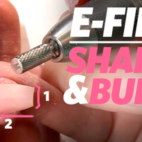 File, Shape, and Buff Acrylic Nails with an E-file