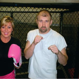 """""""If the boogie man wants to come after me I can knock him out with my hot pink gloves."""""""