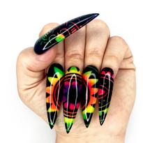 NTNA S. 6 Challenge 8: Rainbow Mandala Nail Art (Ashley)