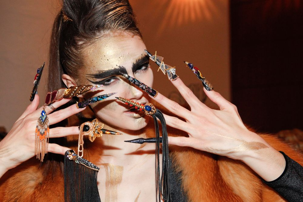 <p>The nails on Winnie Huang's model were titled Fierce</p>