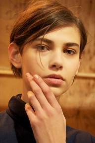 <p>A clean nude nail accompanied the London Fashion Week showing of Marios Schwab's collection. Butter LONDON Hydrating Balm and Foundation were used to achieve the nude, matte finish. Photo courtesy of butter LONDON.</p>