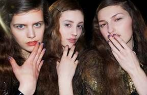 <p>Katie Jane Hughes created three looks for butter LONDON to accompany Meadham Kirchhoff's London Fashion Week collection. Photo courtesy of butter LONDON.</p>