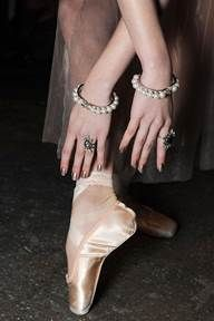 <p>Butter LONDON's new color Goss was worn at Dannijo. Katie Jane Hughes then applied Posh Bird at the tips using a sponge. Photo courtesy of butter LONDON.</p>