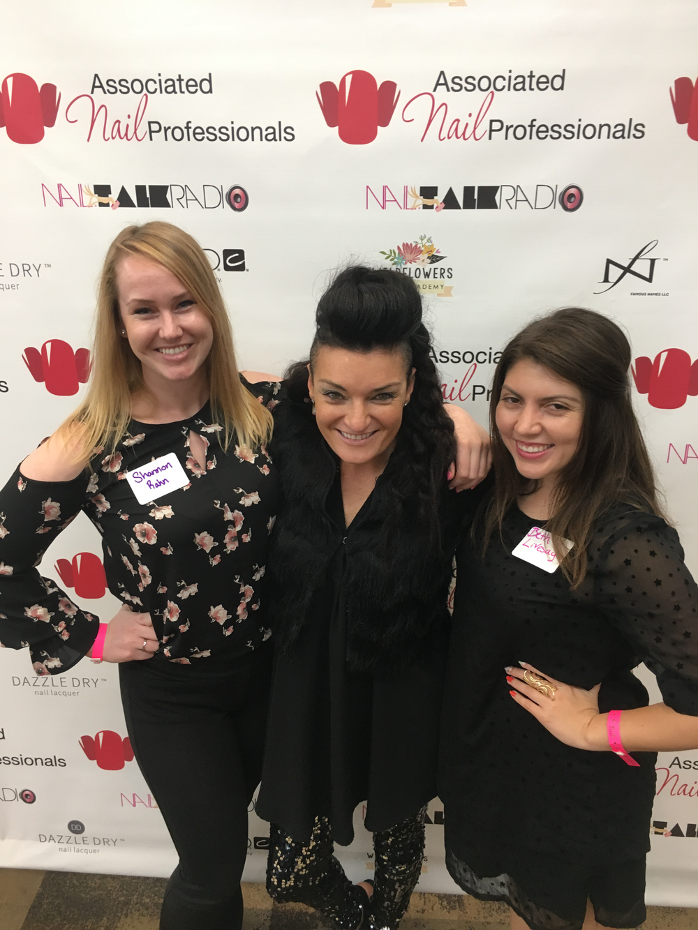 <p>NAILS' Shannon Rahn, guest speaker Jen Planck, and NAILS Beth Livesay</p>
