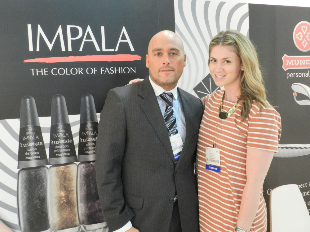 <p>Mundial&rsquo;s commercial manager Pablo Magii and account executive Michal Rubin introduce Impala, the brand&rsquo;s polish line, to the U.S. market.</p>