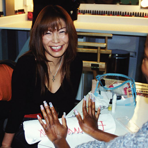Naoko was in L.A. for OPI's regional training, so we booked her for this month's cover.