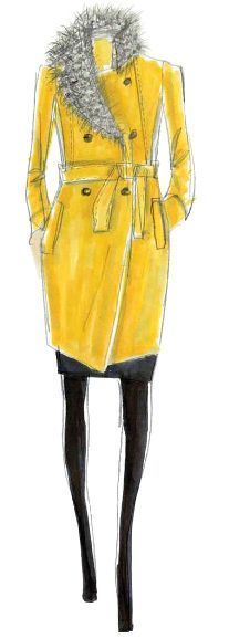 <p><strong>Bamboo</strong> is a standout yellow with a subtle green undertone, brings a warm, exotic flavor to the season. <em>Illustration by Kenneth Cole. Originally appeared in The Pantone Fashion Color Report Fall 2011.</em></p>