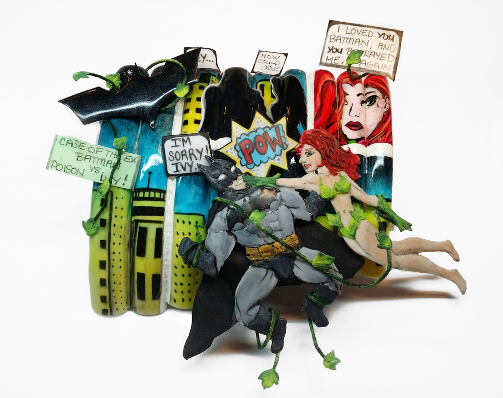 """<p>Batman and Poison Ivy nails by <a href=""""https://instagram.com/nailsbydanielle"""">Danielle Costantino</a>, Cranston R.I.</p>"""