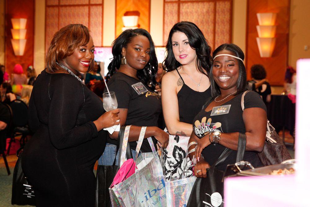 <p>Polish Pawzz Salon&rsquo;s Alyssa Harewood, Rhonda Shelton, Amber Bey, and Ashley Francois</p>