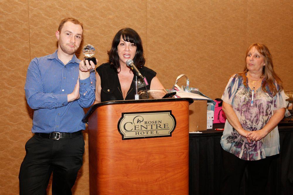 <p>Nail Talk Radio's Braden Jahr and Athena Elliott presenting the Vicki Peters Aaamazing Nail Tech Award. VIDEO: http://www.nailsmag.com/video/111274/aaamazing-nail-tech-award-at-the-nailtech-network-orlando-social</p>
