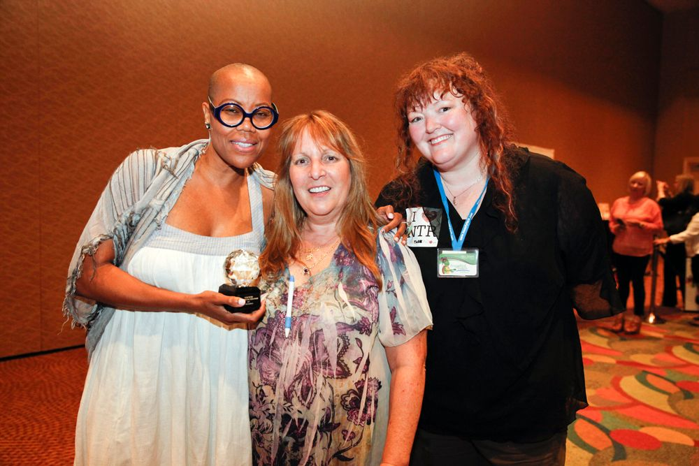 <p>Masie Dunbar, Debbie Doerlamm, and Holly Schippers, the three consecutive winners of NTR's Aaamazing Nail Tech Award.</p>
