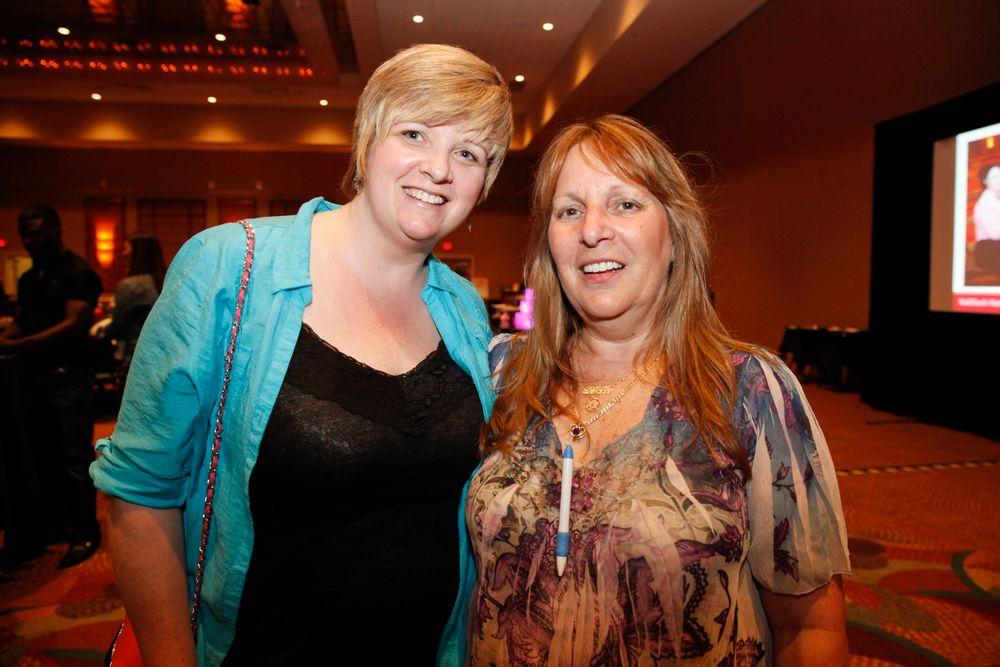 <p>Darcy Olin and Debbie Doerlamm</p>