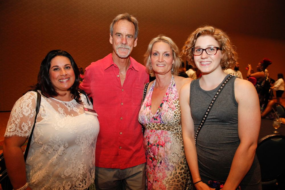 <p>Kristi Din, Bruce Atwood, Nicole Atwood, and Jessica Tausch</p>