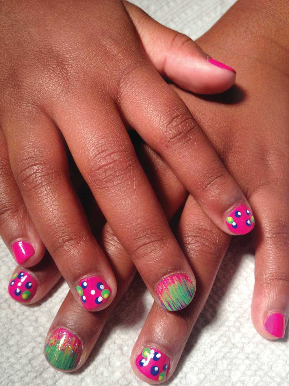 <p>Age: 12 Wanda Belk, <br />Zoe Nails at Ayrsley, Charlotte, N.C.</p>