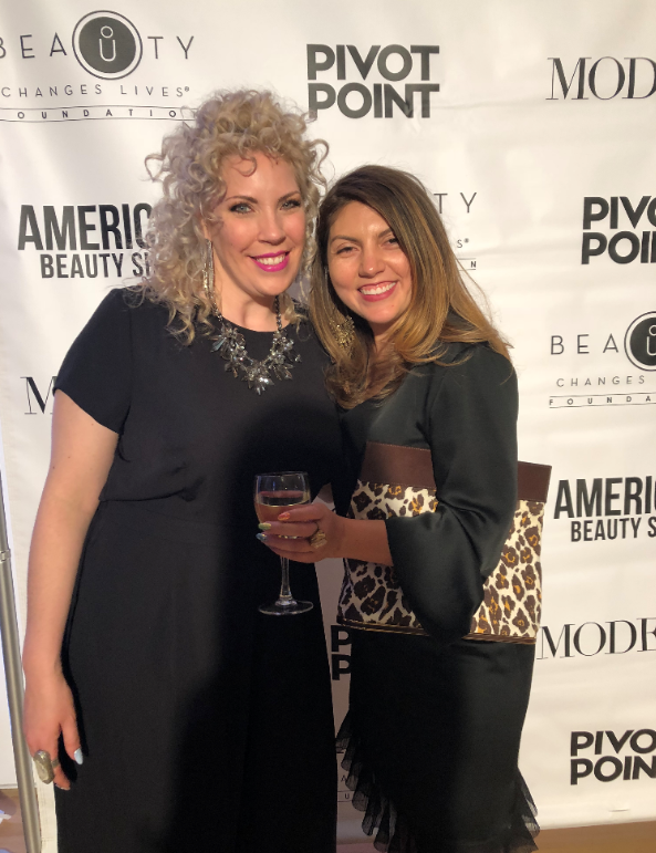 <p>NAILS editor Beth Livesay and CND Mentor Torie Bastian (left) at the Beauty Changes Lives Experience, held at the Art Institute of Chicago.</p>