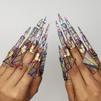 NTNA S. 6 Final Challenge: Adjustable Kaleidoscope Nail Art (Ashton)