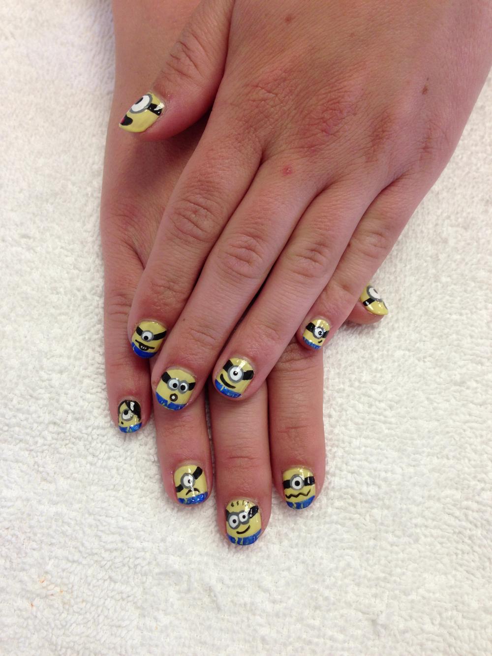 <p>Minion nails by Melisa Bruce, Sugar Ray's, Hermosa Beach, Calif.</p>