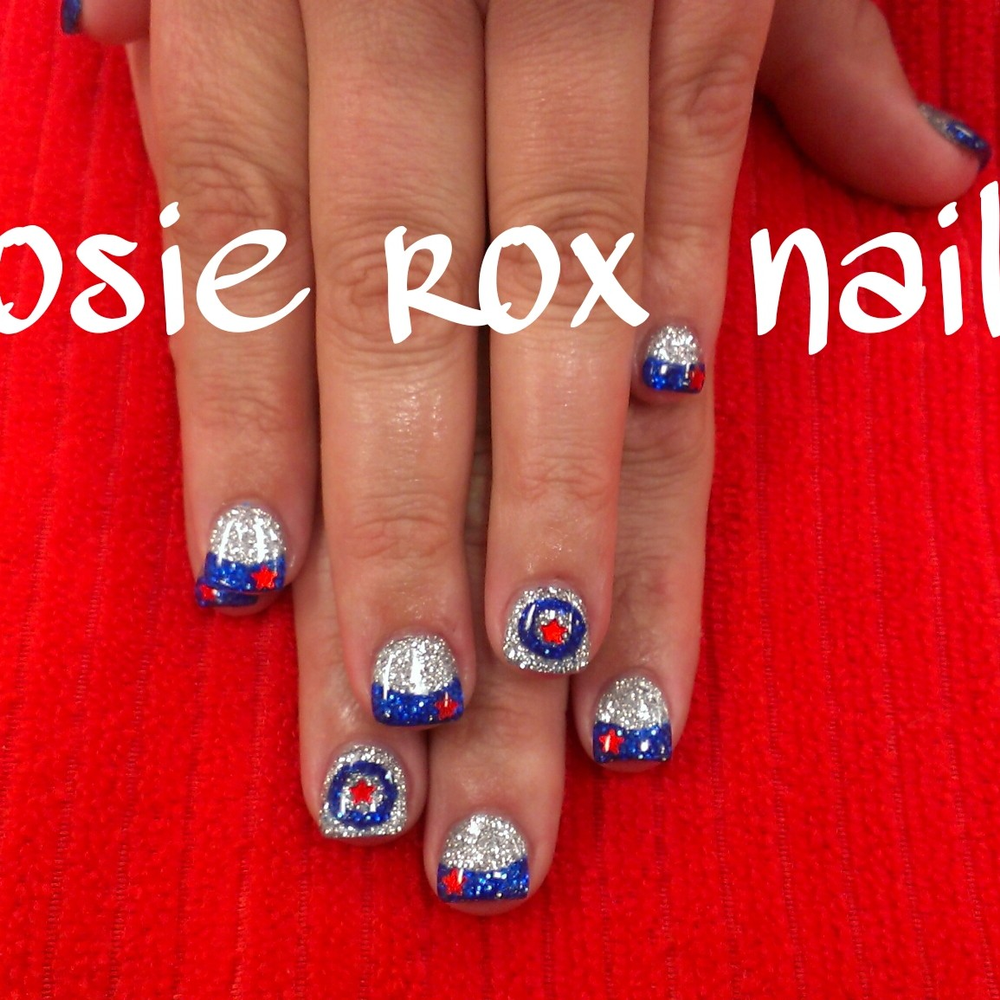 <p>Captain America nails by Rosie Callis, Glendale, Ariz.</p>