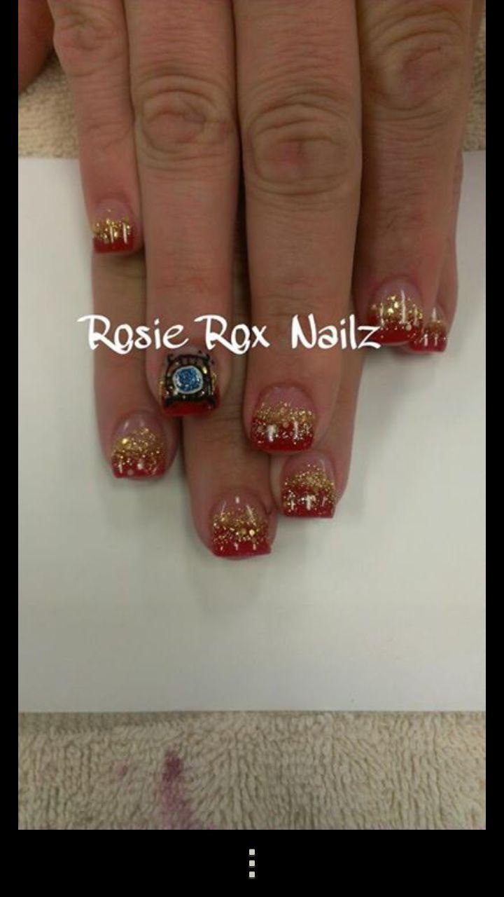 <p>Iron Man nails by Rosie Callis, Glendale, Ariz.</p>