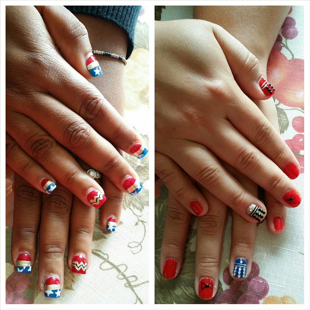 """<p>Doctor Who and Wonder Woman nails by <a href=""""http://instagram.com/imshewhodestroys"""">Mayra Quezada</a>, San Diego</p>"""