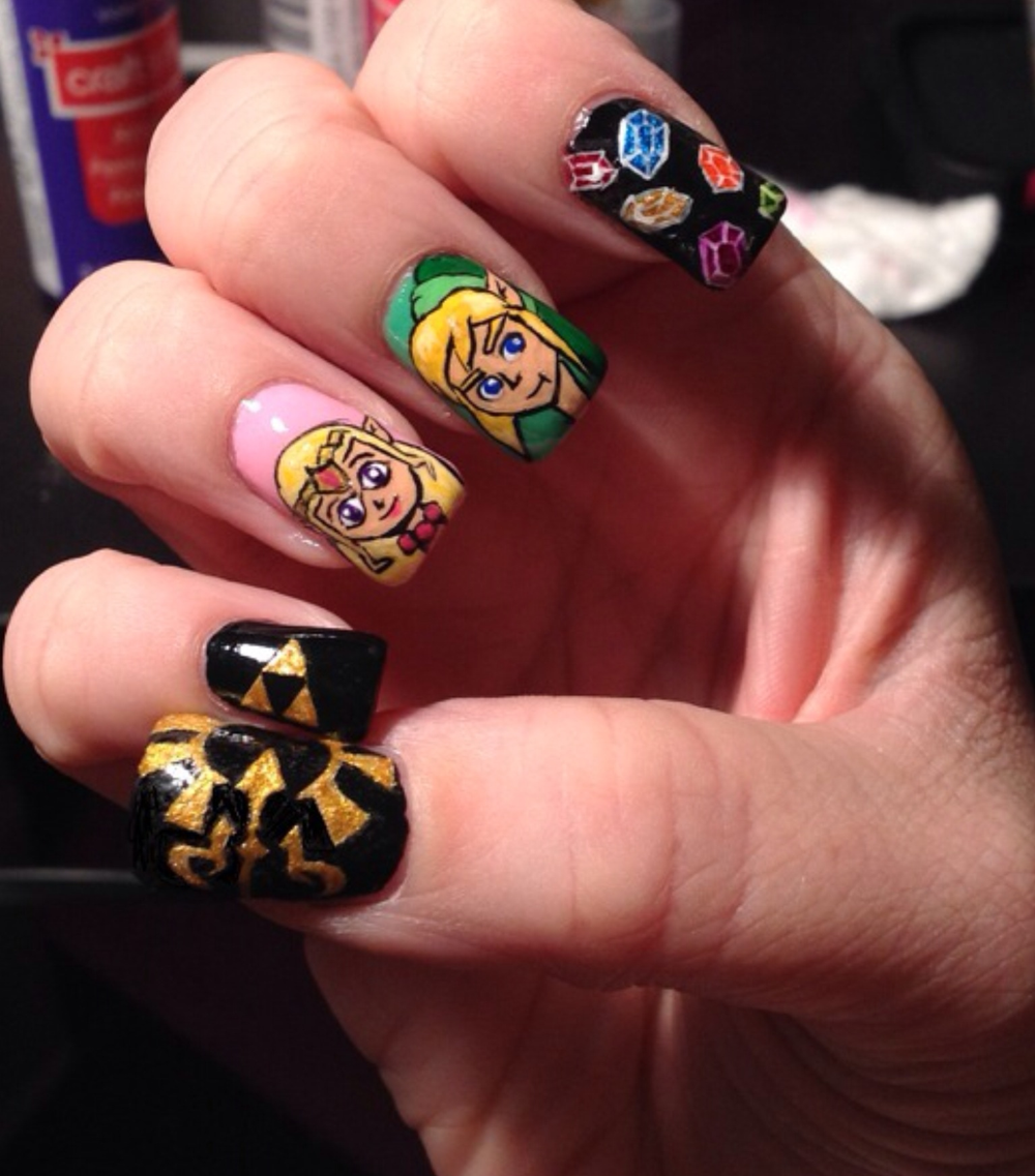 <p>Zelda nails by Lisa Thomas, Queens, New York</p>