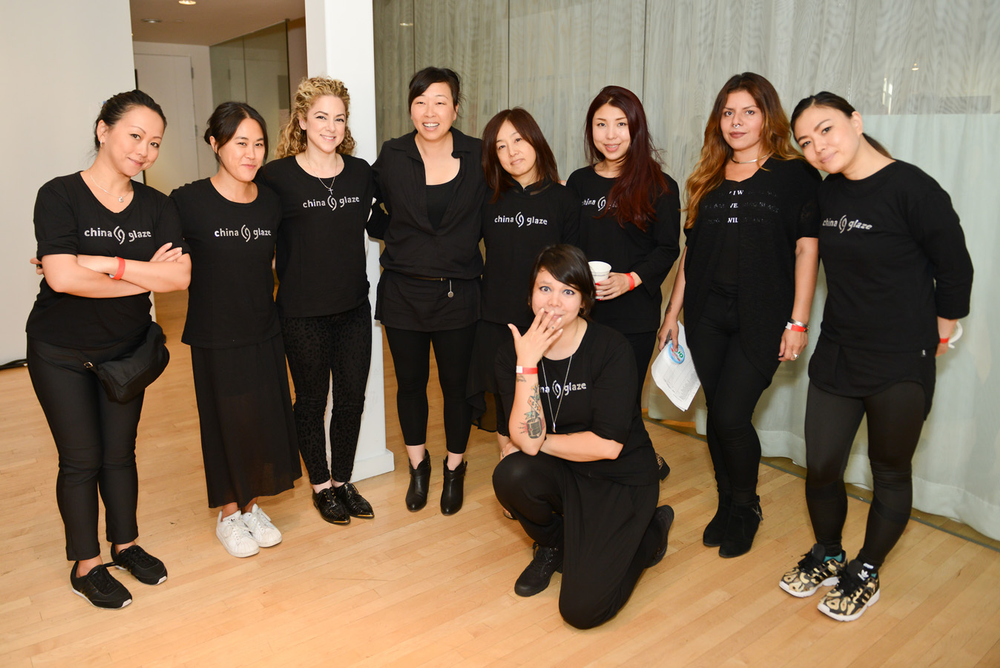 <p>The China Glaze team at Clover Canyon. Photos courtesy of Matthew Carasella/SocialShutterbug.com</p>