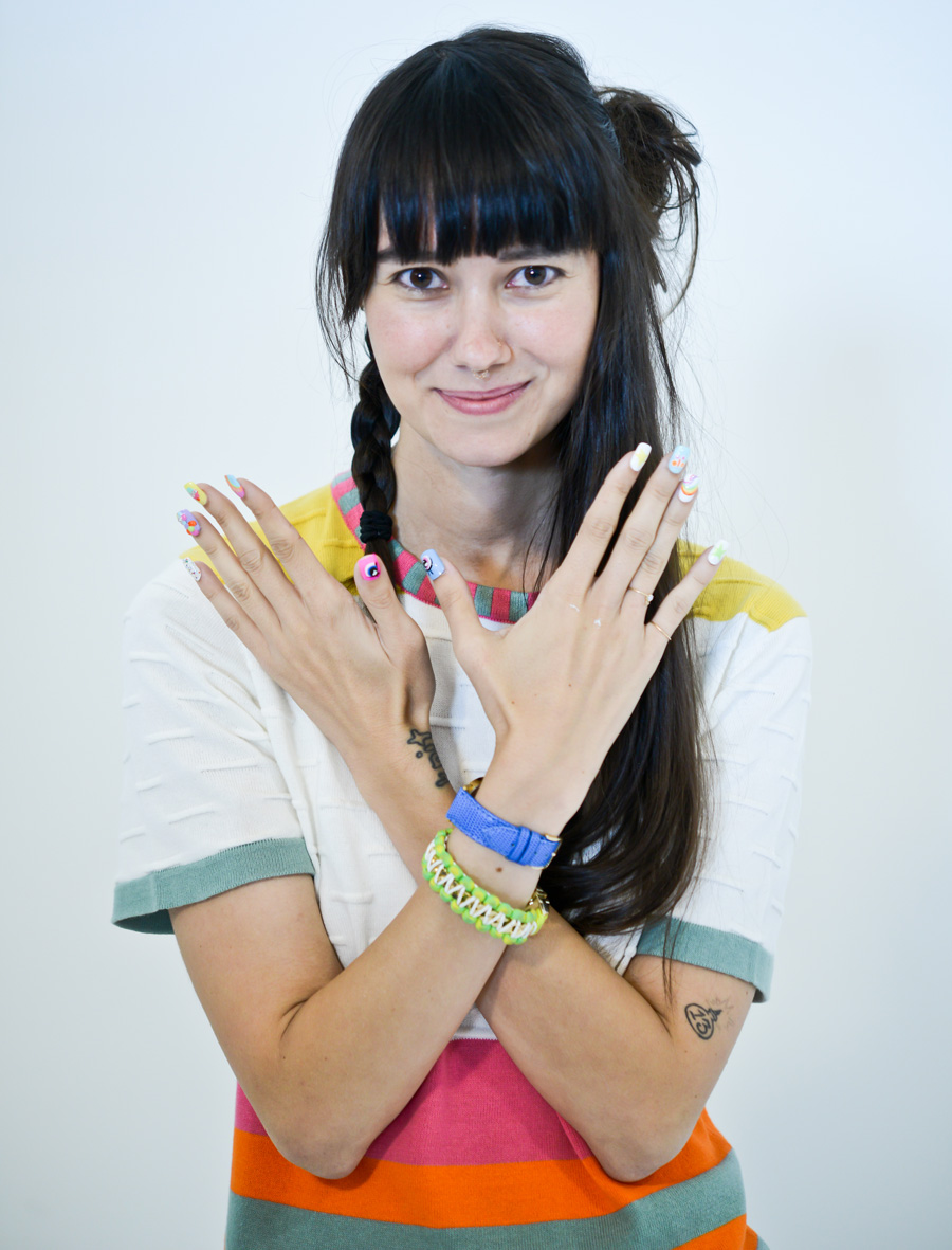 <p>Lead manicurist Casey Herman collaborated with designer Lindsay Degen (pictured), who hand-selected the shades used in her runway show. Photos courtesy of Matthew Carasella/SocialShutterbug.com</p>