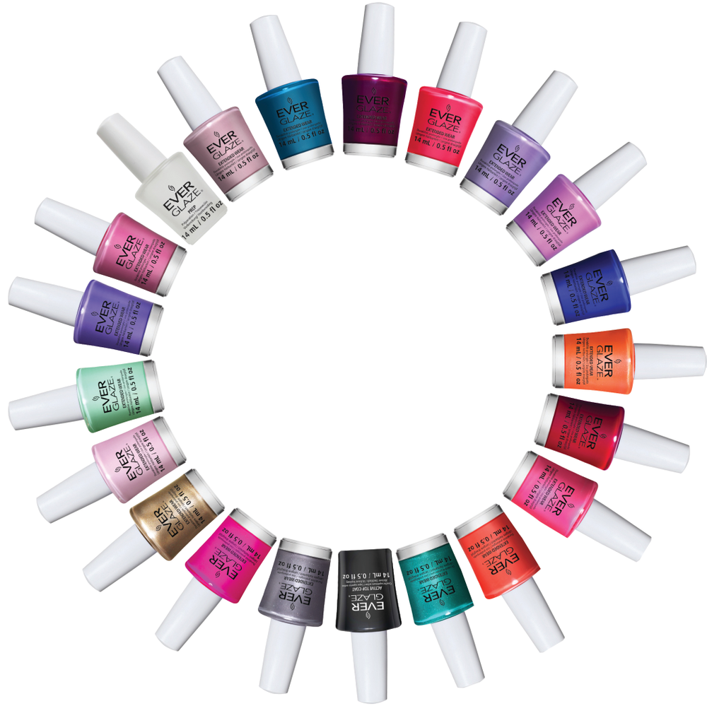 """<p>The makers of&nbsp;<a href=""""http://chinaglaze.com/"""">China Glaze</a> introduce EverGlaze, an advanced two-step color system. Extended Wear lacquer and Active Top Coat fuse together with natural light and without a base coat. EverGlaze delivers 10 days of intense shine and chip-free finish, according to the company. Launching in early 2015, EverGlaze will be available in 48 shades. Use acetone or non-acetone remover to take EverGlaze off of nails. </p>"""