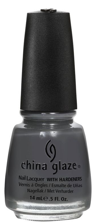 <p><strong>China Glaze</strong> Concrete Catwalk is a dark grey cream.</p>