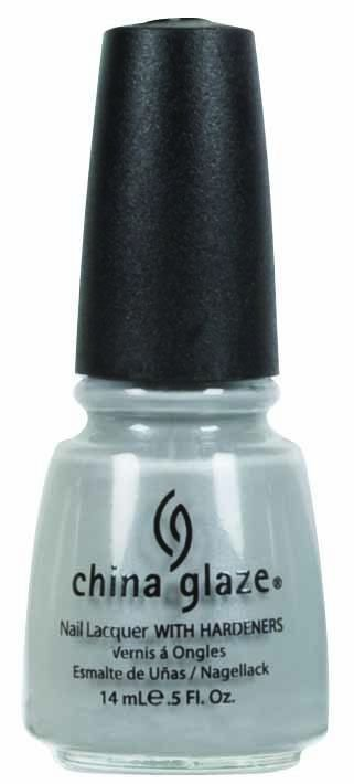 <p><strong>China Glaze</strong> Pelican Grey is a light grey cream with micro-shimmer.</p>