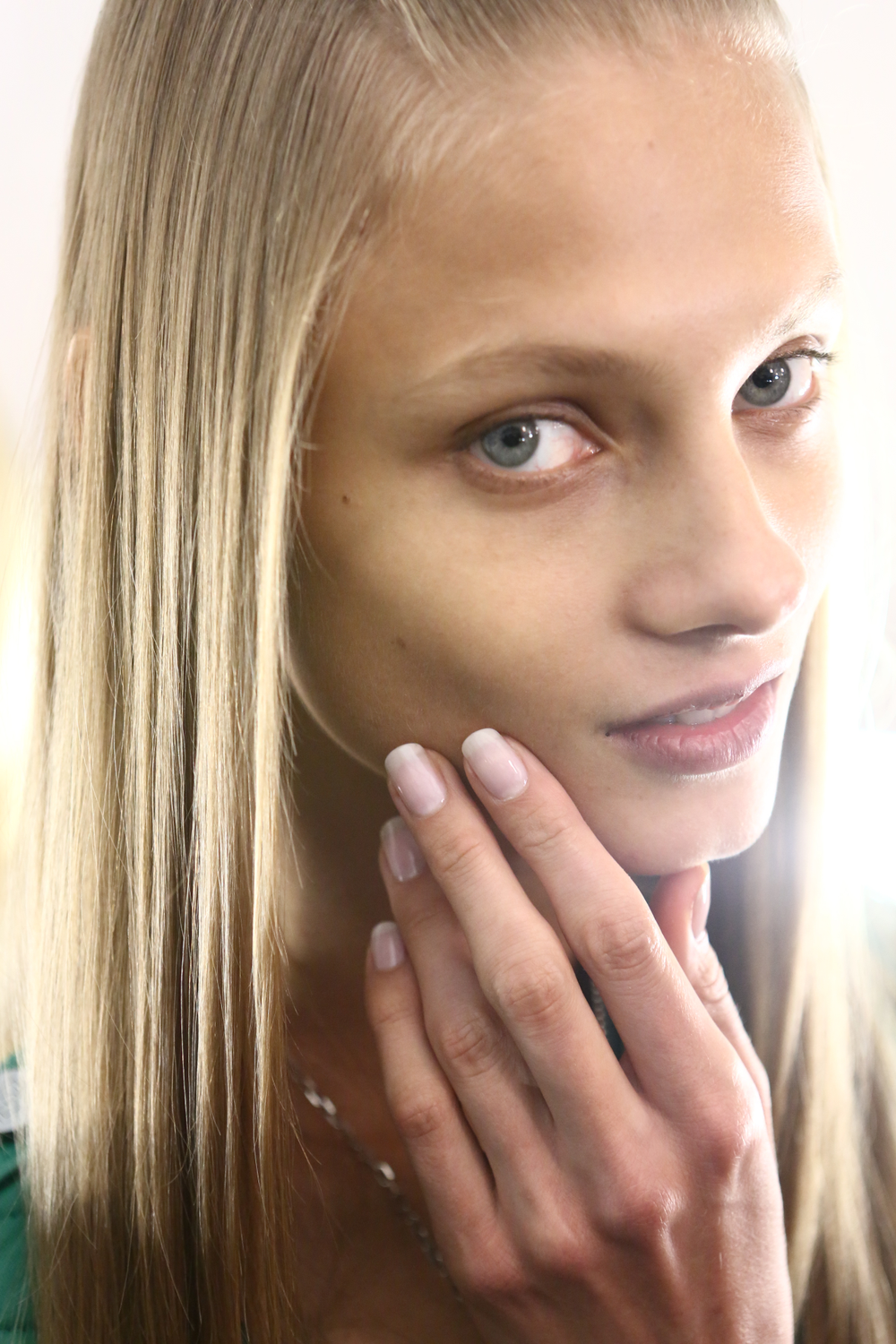 <p>Models wore <strong>Essie </strong>First Base, Adore-a-Ball, and Good to Go. These nails went well with Herrera&rsquo;s icy blues, oranges, and faint yellows.</p>