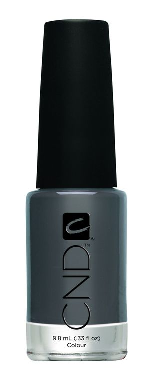 <p><strong>CND </strong>Colour in Asphalt is a deep grey with brown and silver undertones.</p>