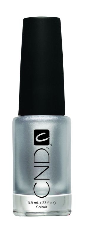 <p><strong>CND</strong> Colour in Silver Chrome is an opaque silver with grey undertones.</p>
