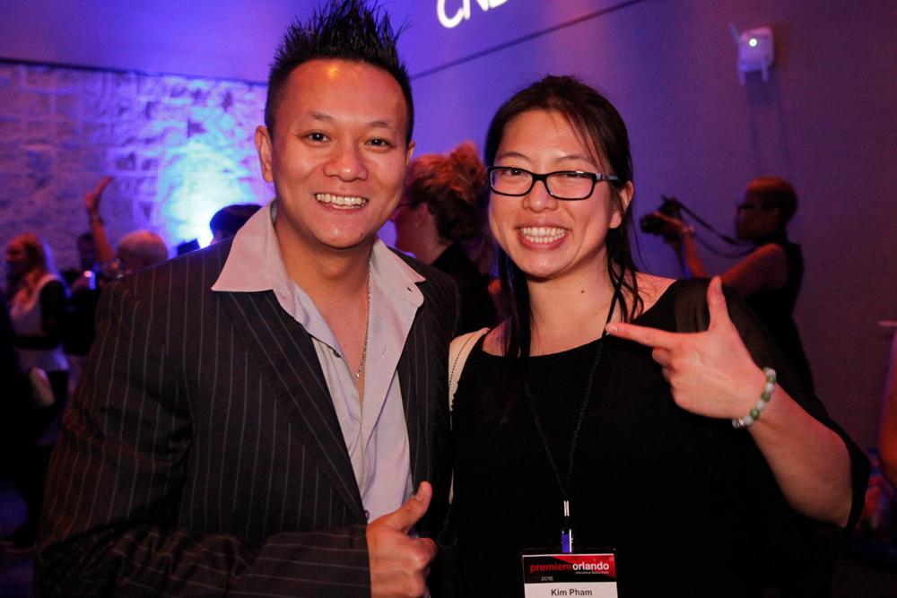 <p>Winner Tan Nguyen with NAILS/VietSALON's Kim Pham</p>