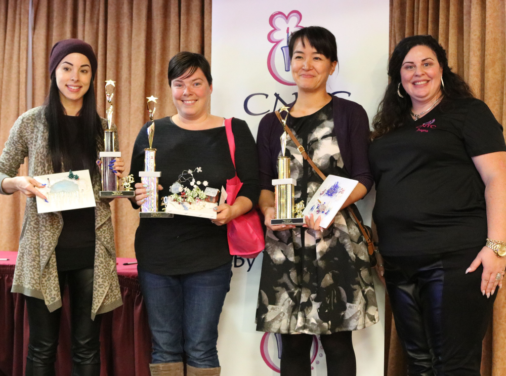<p>CNTC winners show off their trophies.</p>