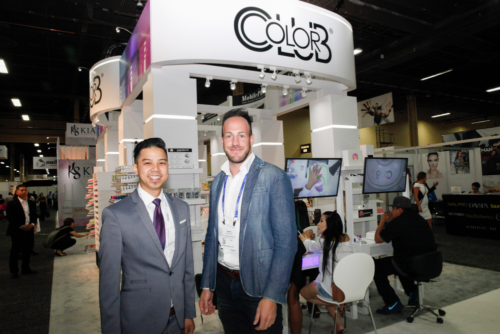 <p>Color Club's Robert Nguyen and Color Club South Africa's Nevin Sher</p>