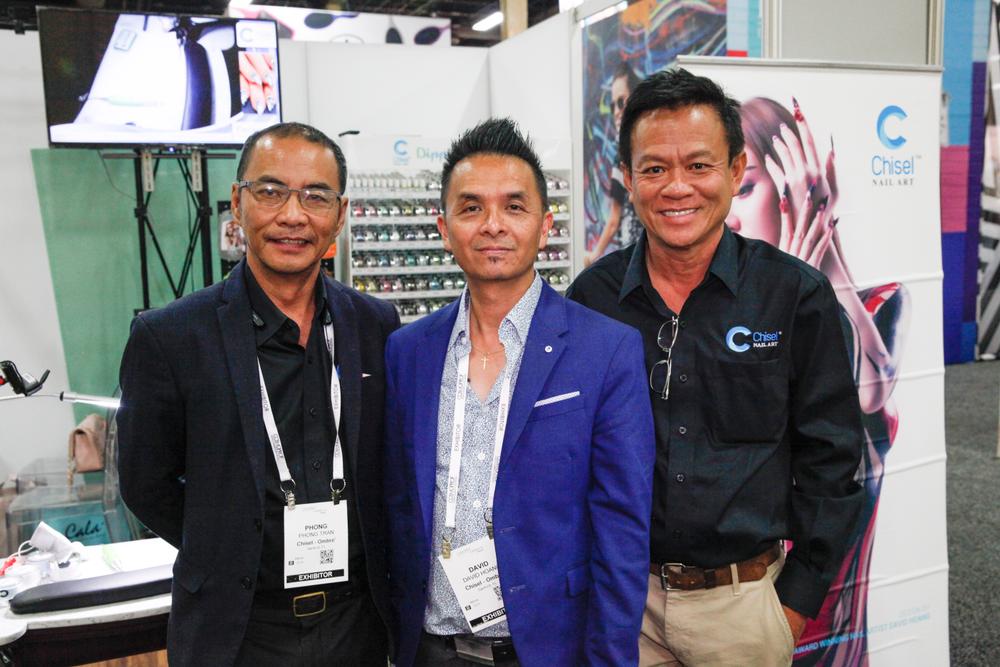 <p>Chisel Nail Art's Phong Tran, David Hoang, and Hung Tran</p>