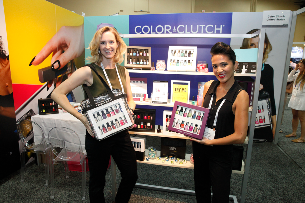 <p>Color Clutch founder Katharine Contag and Cheryl Beja</p>