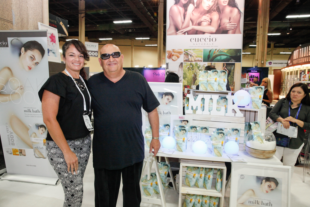 <p>Cuccio's Marilyn Garcia and Tony Cuccio</p>