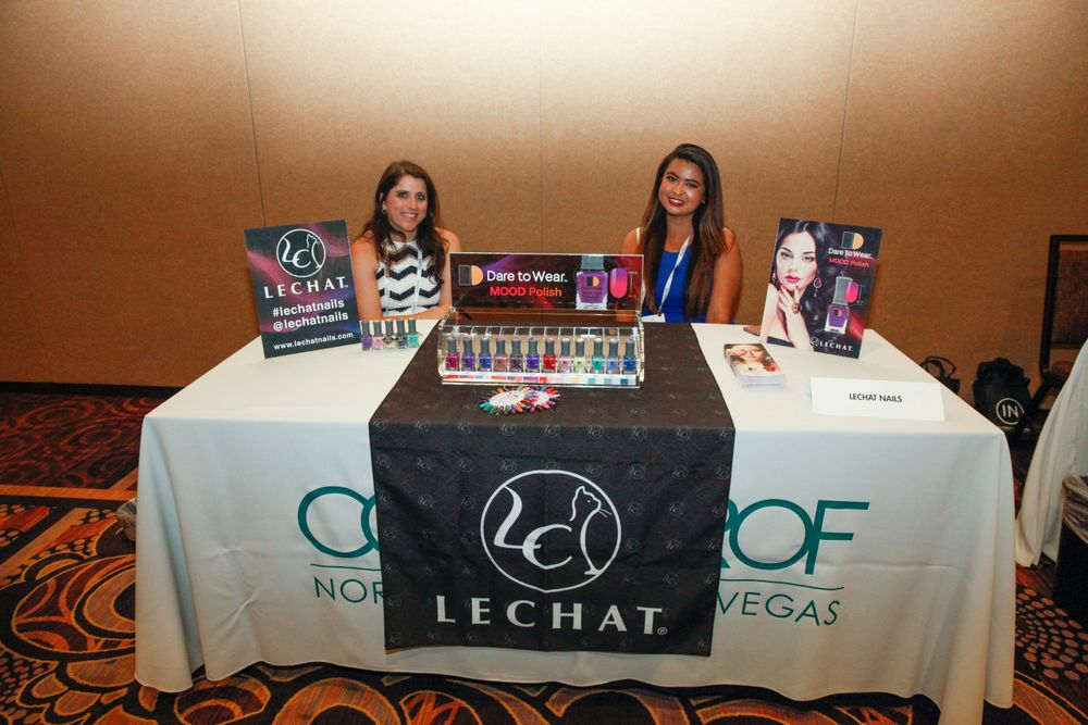 <p>LeChat Nails introduced the company's Mood Polish to the media during Cosmoprof's Media Luncheon.</p>