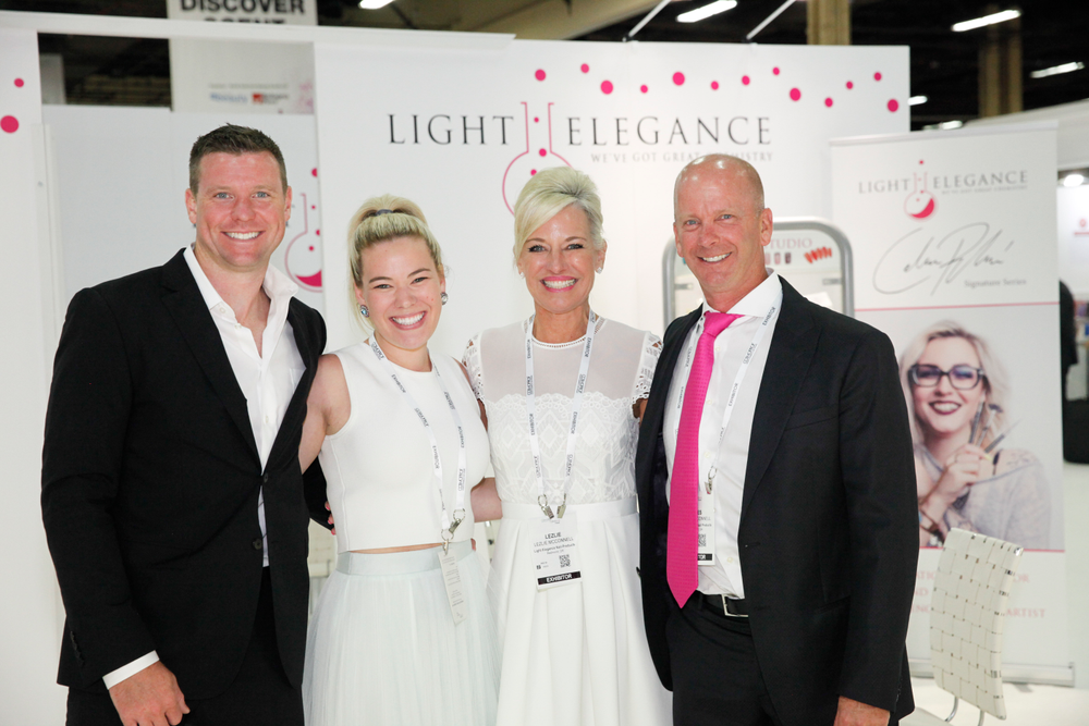 <p>The Light Elegance family of Joseph and Lexy McLellan and Lezlie and Jim McConnell</p>