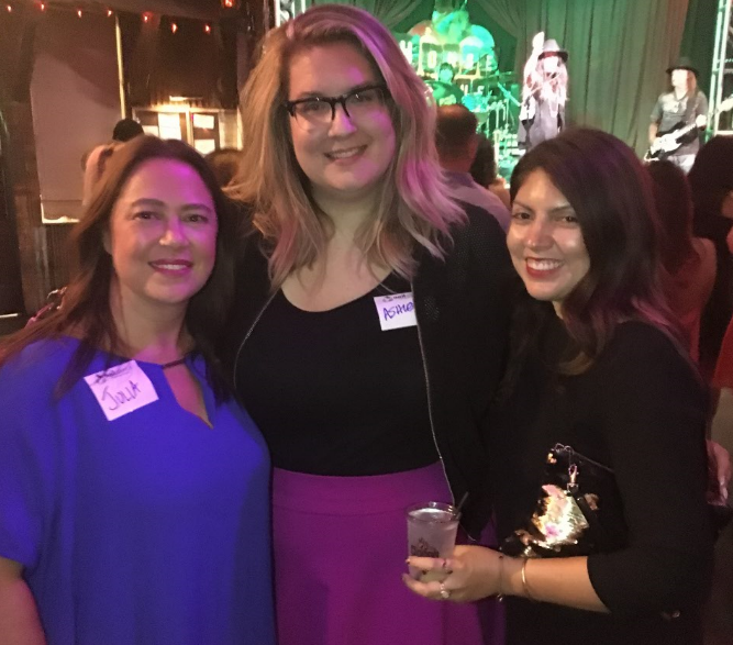 <p>Red PR's Julia Labaton, contributing editor and blogger Ashley Gregory, and NAILS Beth Livesay celebrated the end of the show by attending Nail Alliance's House of Blues party. </p>