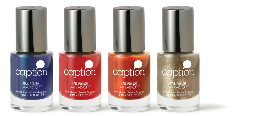 """<p><a href=""""http://www.youngnails.com/"""">Young Nails</a>&rsquo; Caption contains LacQ3 to harden and strengthen nails so they dry three times faster than regular polish and without the use of LED or UV lights. Caption should last up to nine days and requires easy application with self-leveling gel-like consistency. A rounded brush allows for creating an even line at the cuticle. No acetone or soaking are needed for removal. Caption is available in 60 colors with 18 top coat effects.</p>"""