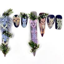 NTNA S. 6 Challenge 2: Wild Cat Acrylic Nail Art (Carly)